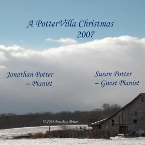 A PotterVilla Christmas CD label